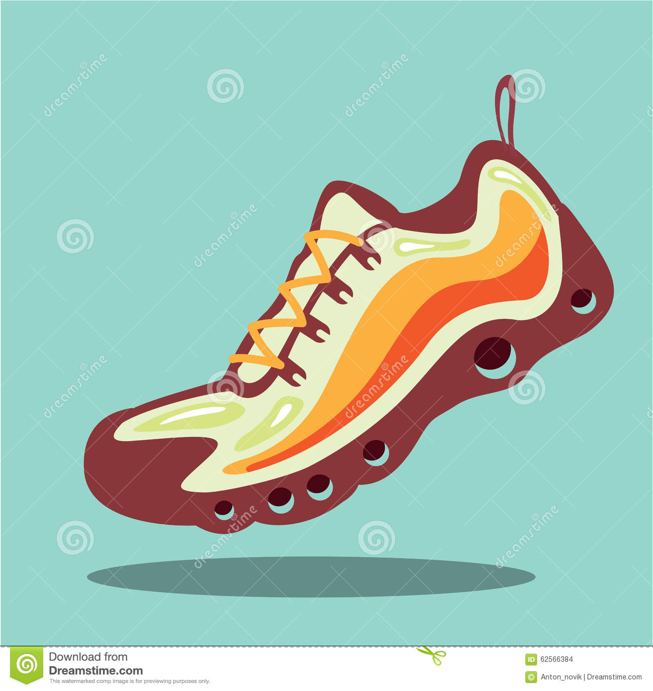 Vector. Shoe Print Silhouette. Set Of Footprints: Sports Running ...