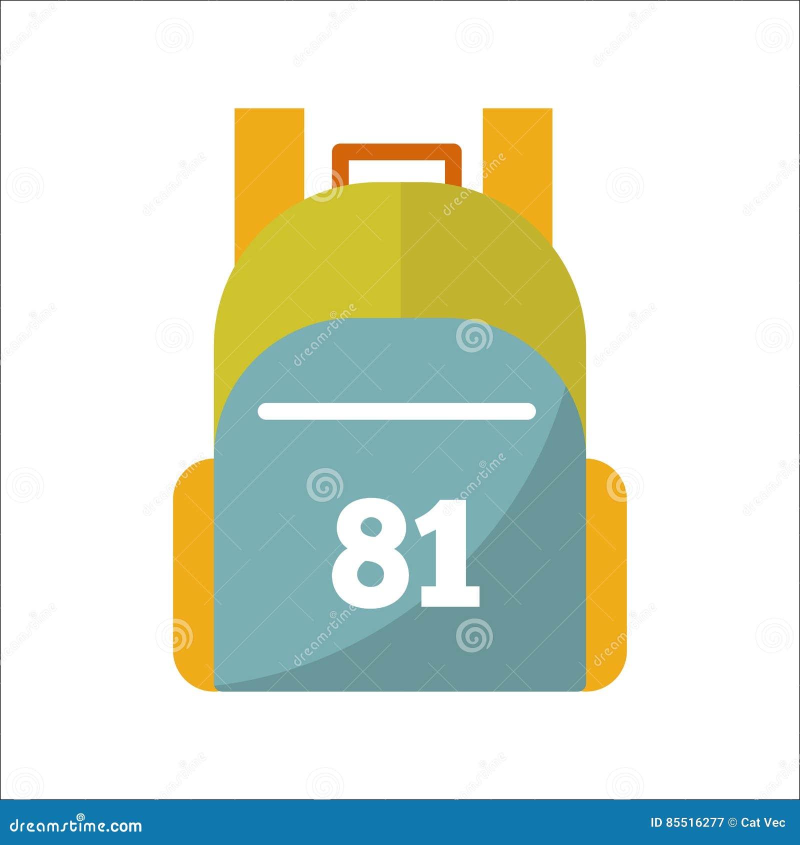 School bag diagram - Sport Or School Bag Vector Isolated