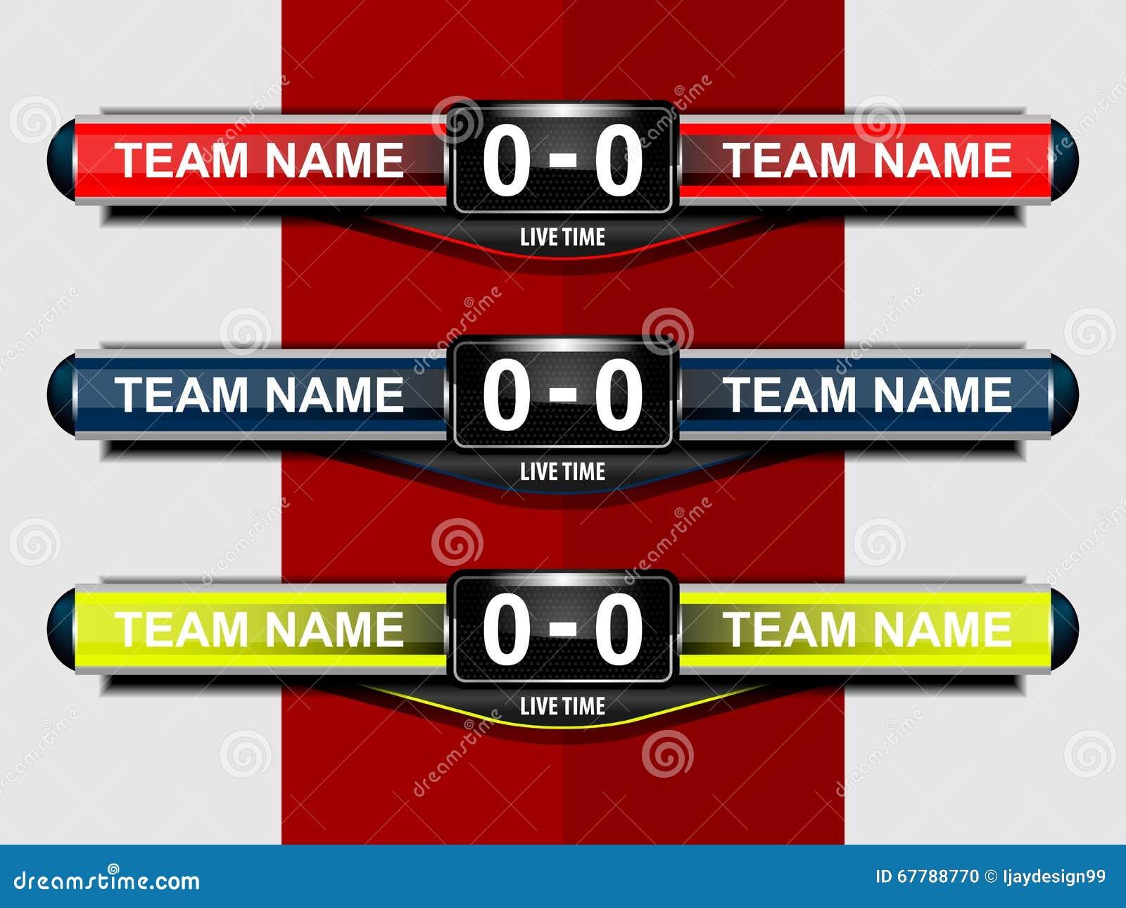 sport scoreboard template illustration 67788770 megapixl