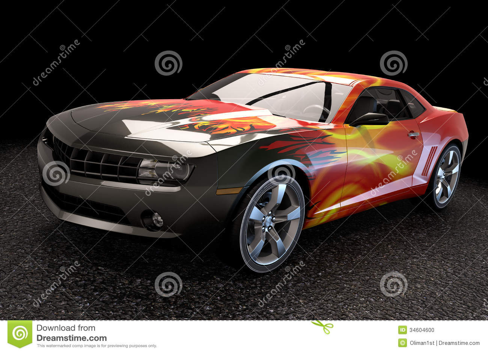 Sport sedan car 3d rendering stock illustration image for Rendering 3d gratis