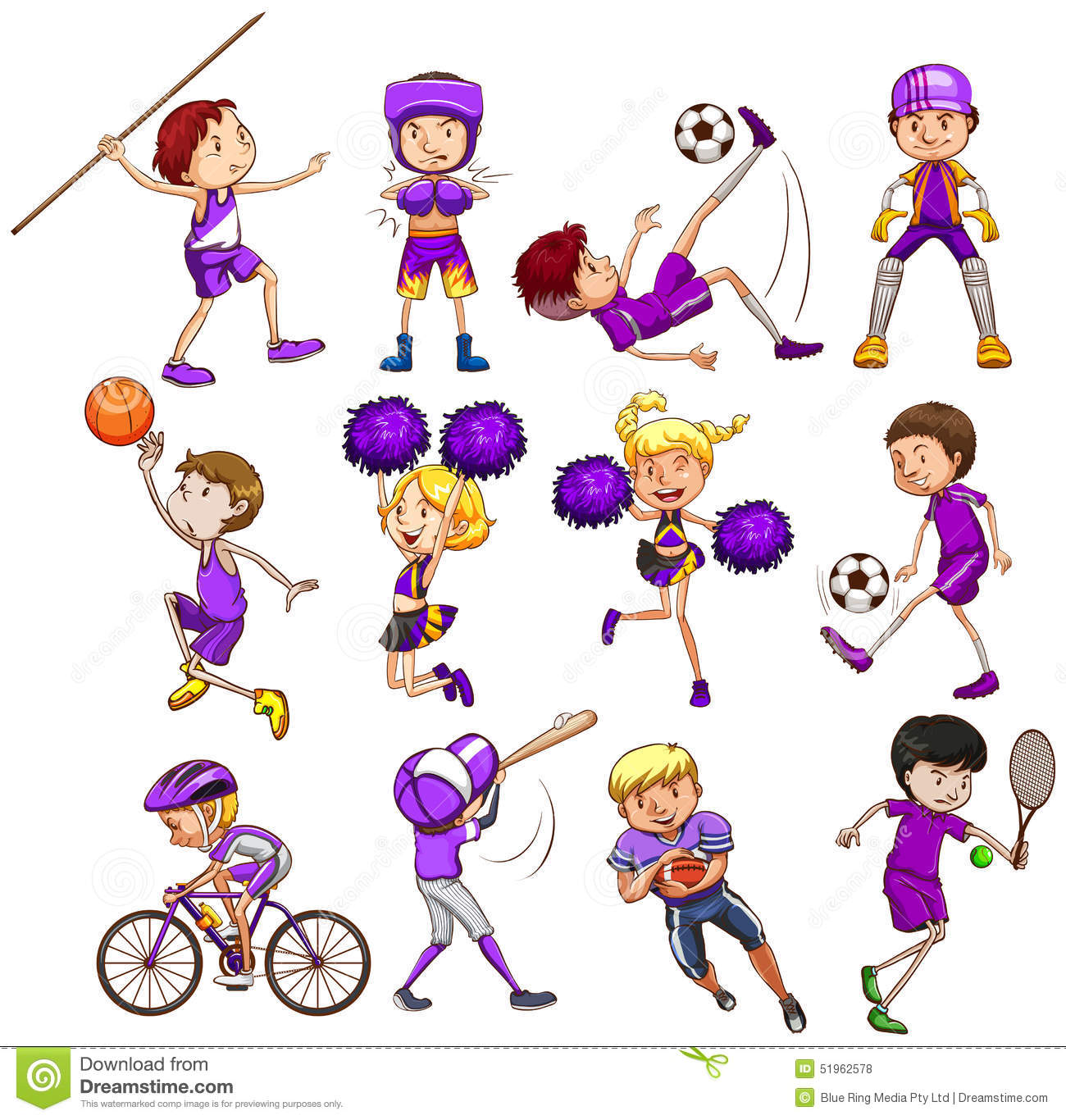 sport stock vector illustration of clipart  healthy clipart children playing in summer clipart children playing in summer