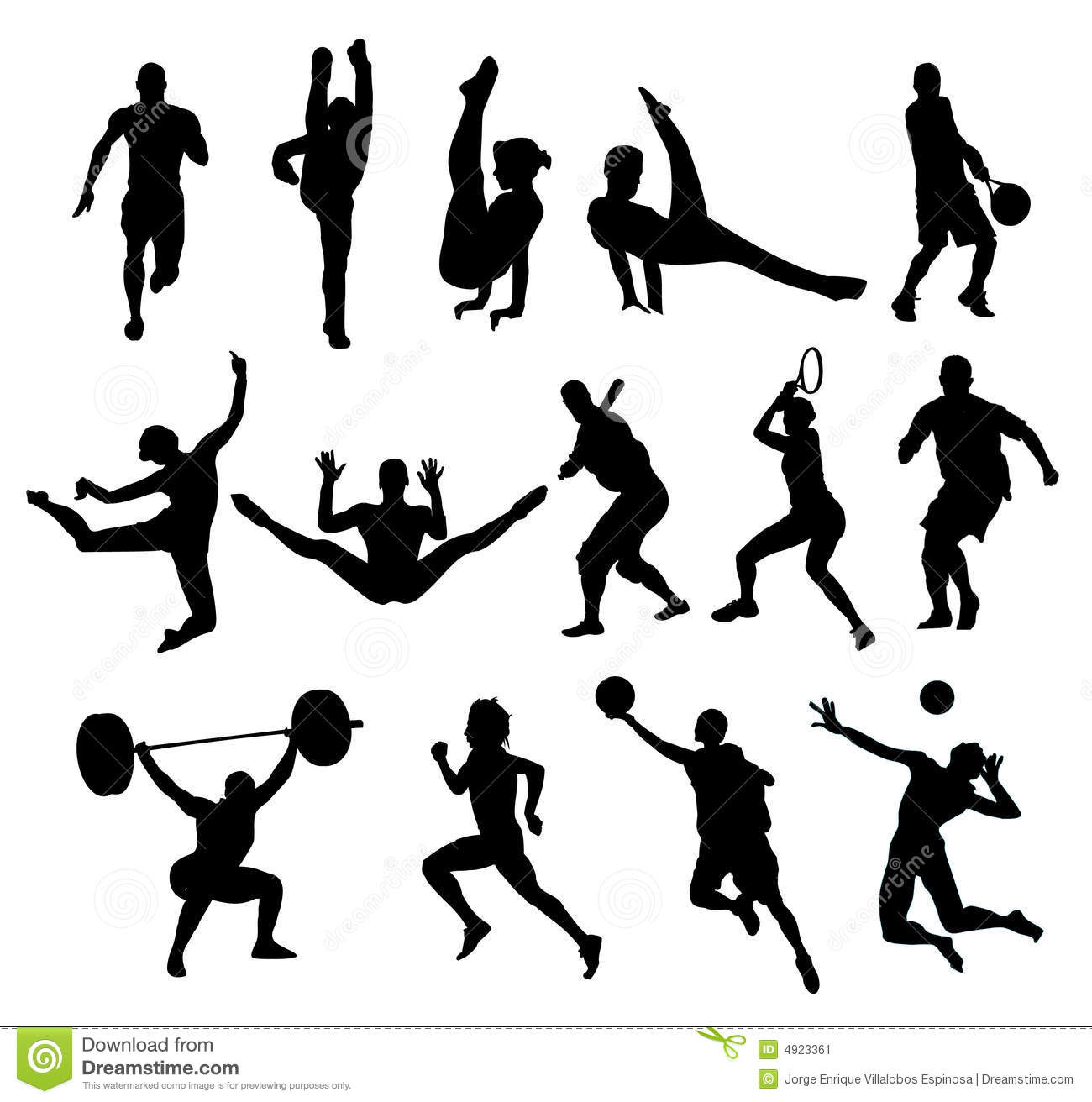 Sport Shapes Vector Stock Image - Image: 4923361