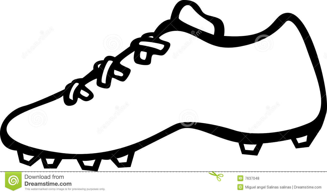 Sport Shoe With Cleats Vector Illustration Royalty Free Stock Photos ...
