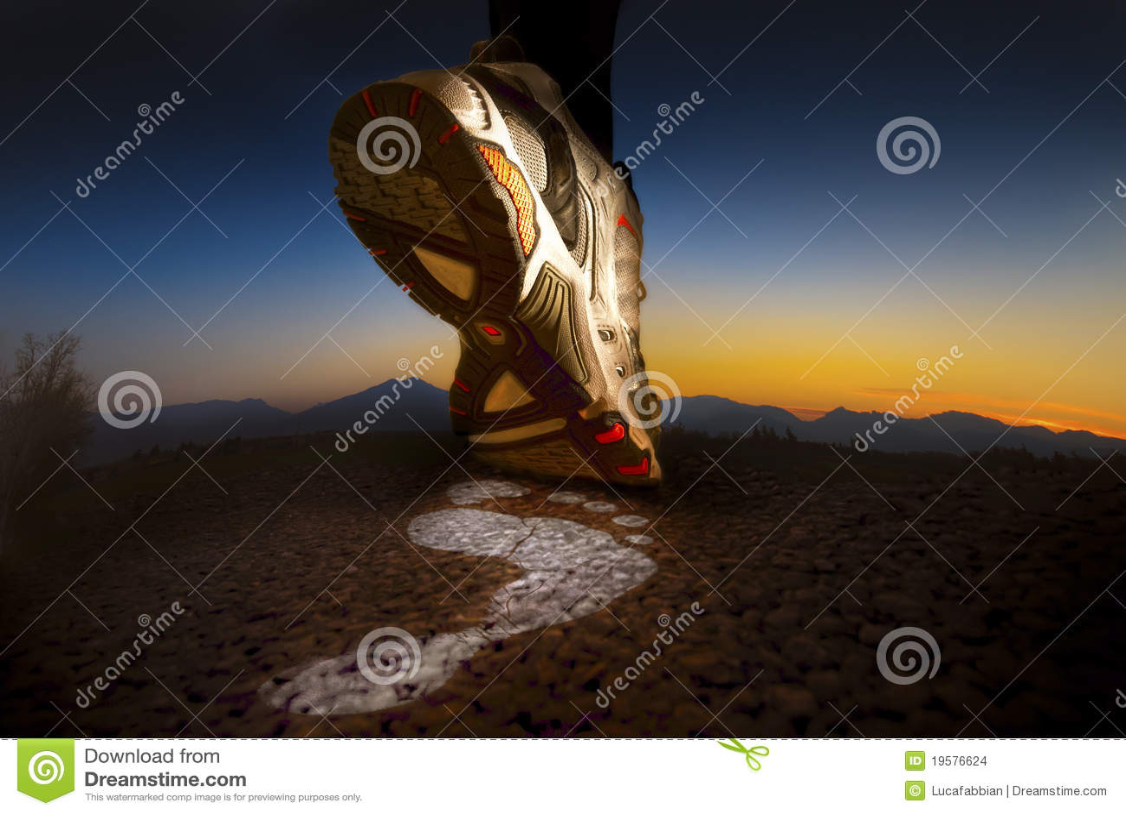 Sport Shoe. Foot Running