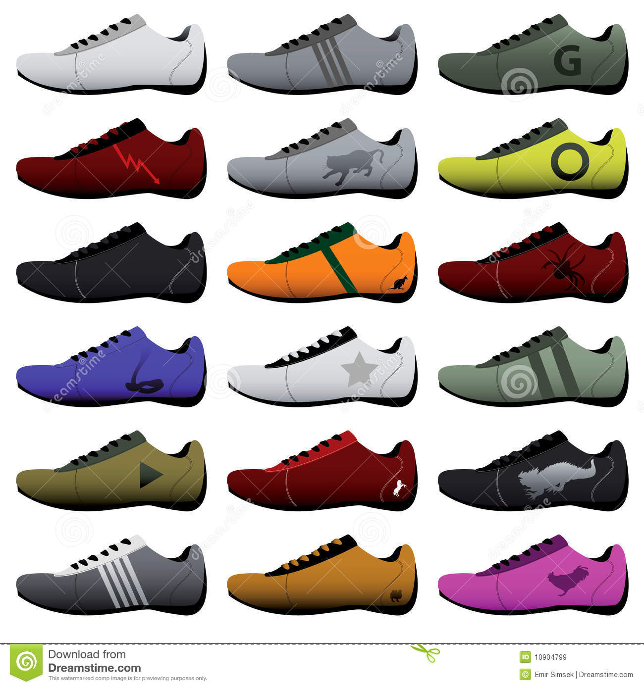 Running shoe sole clipart