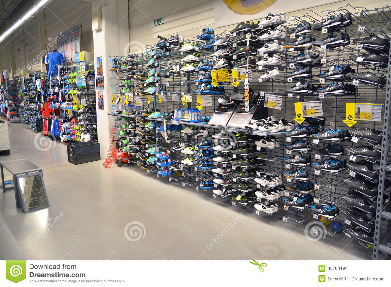 sport shoes store editorial stock image image 40704194