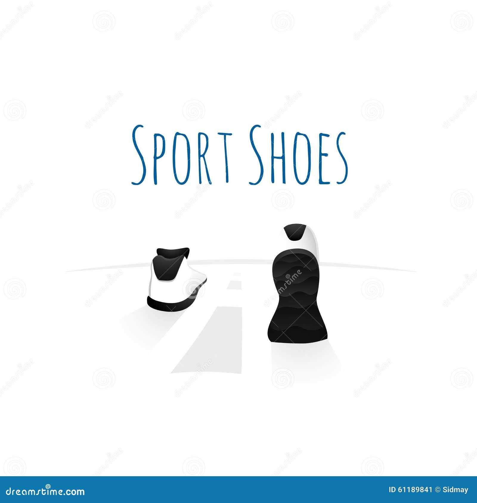 sport shoes wellness running concept logo stock vector