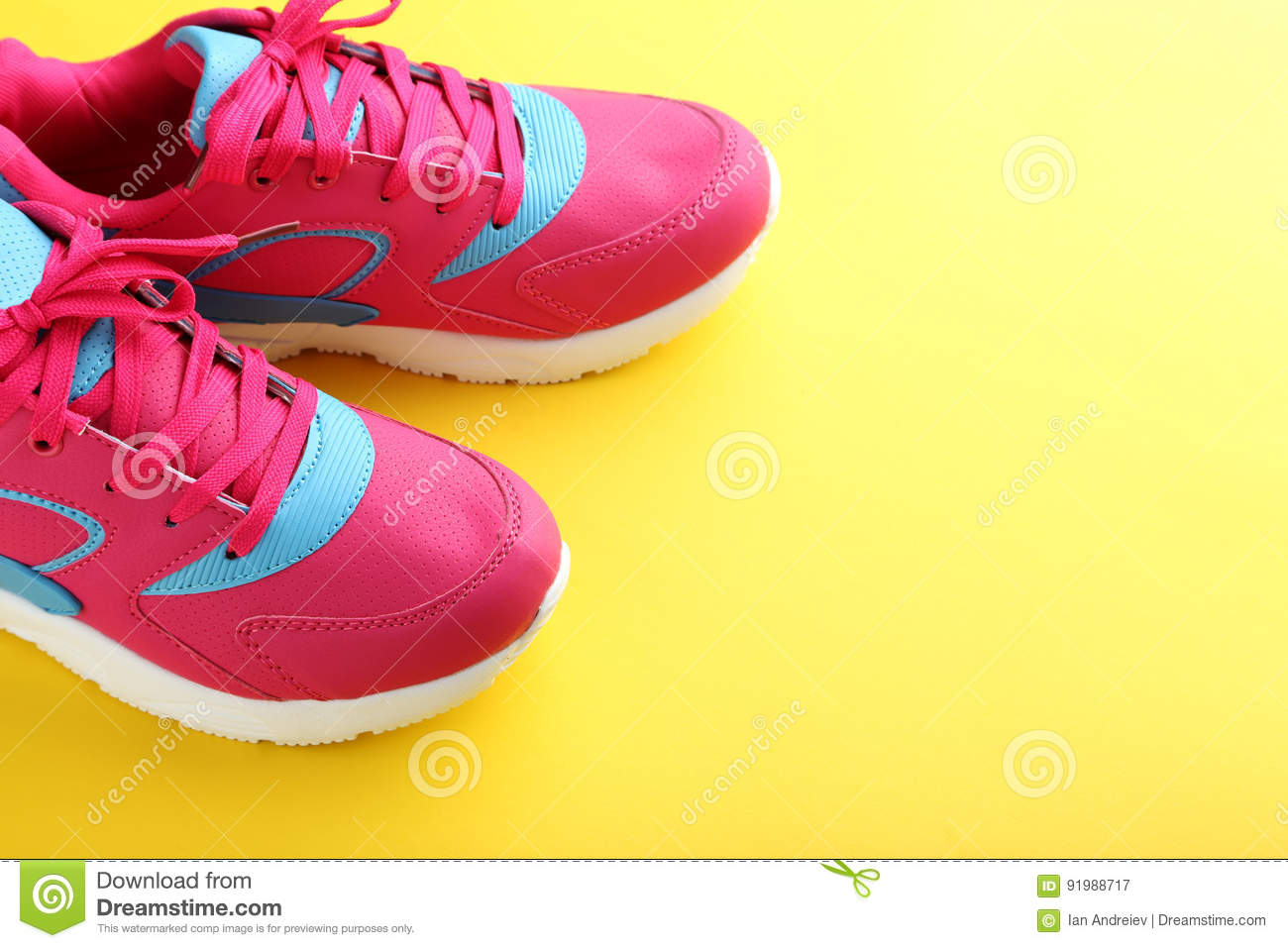 Download Sport shoes stock image. Image of fitness, background - 91988717