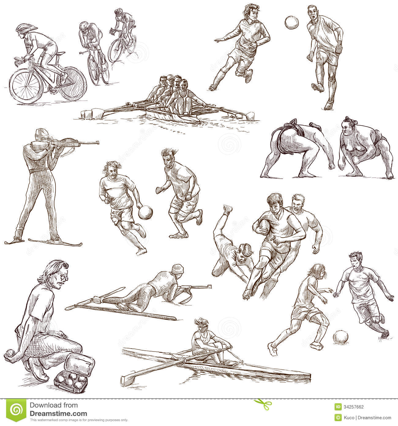 sport stock photography - Sports Drawing Pictures