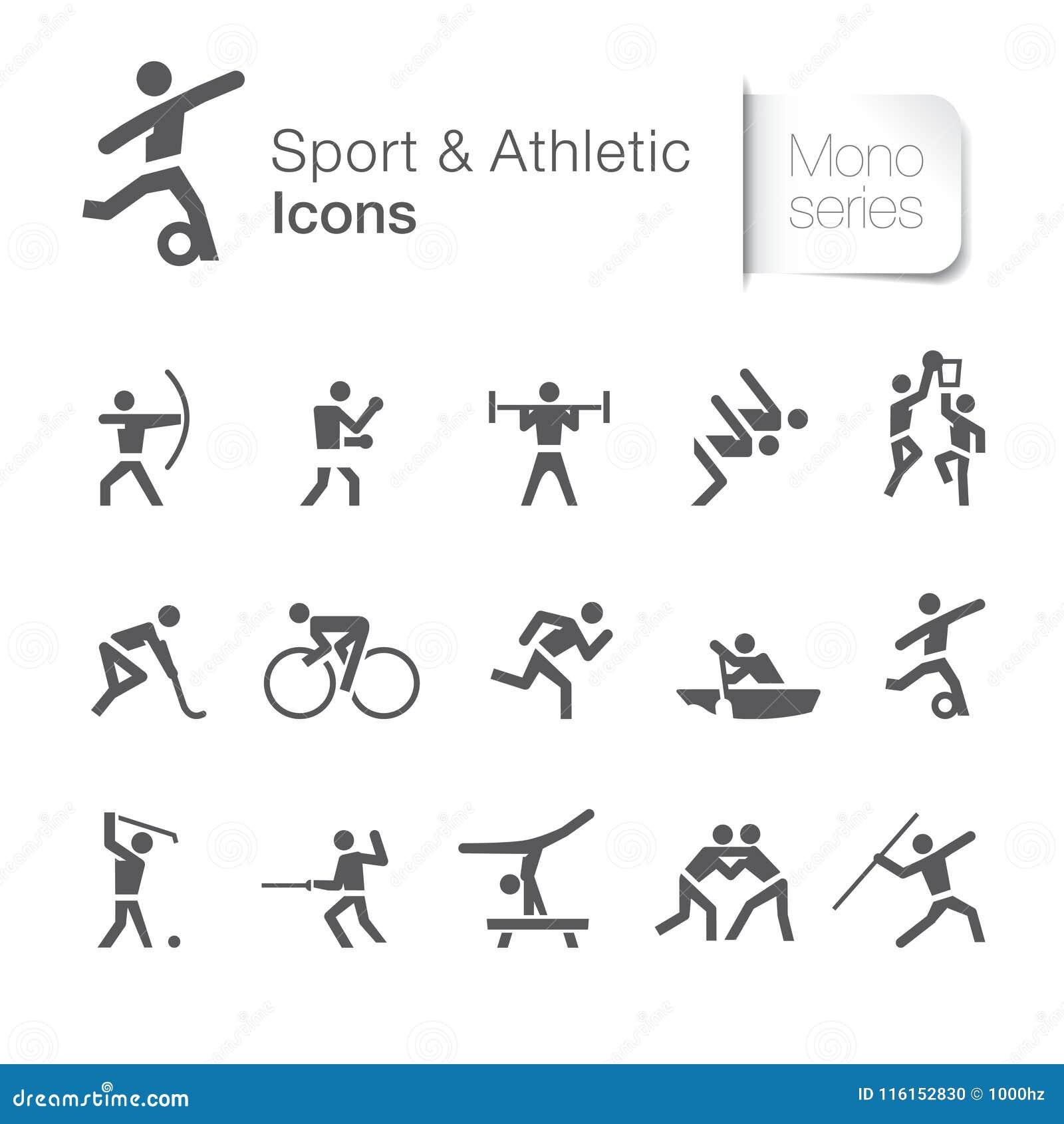 Sport & sportowy powiązany piktogram