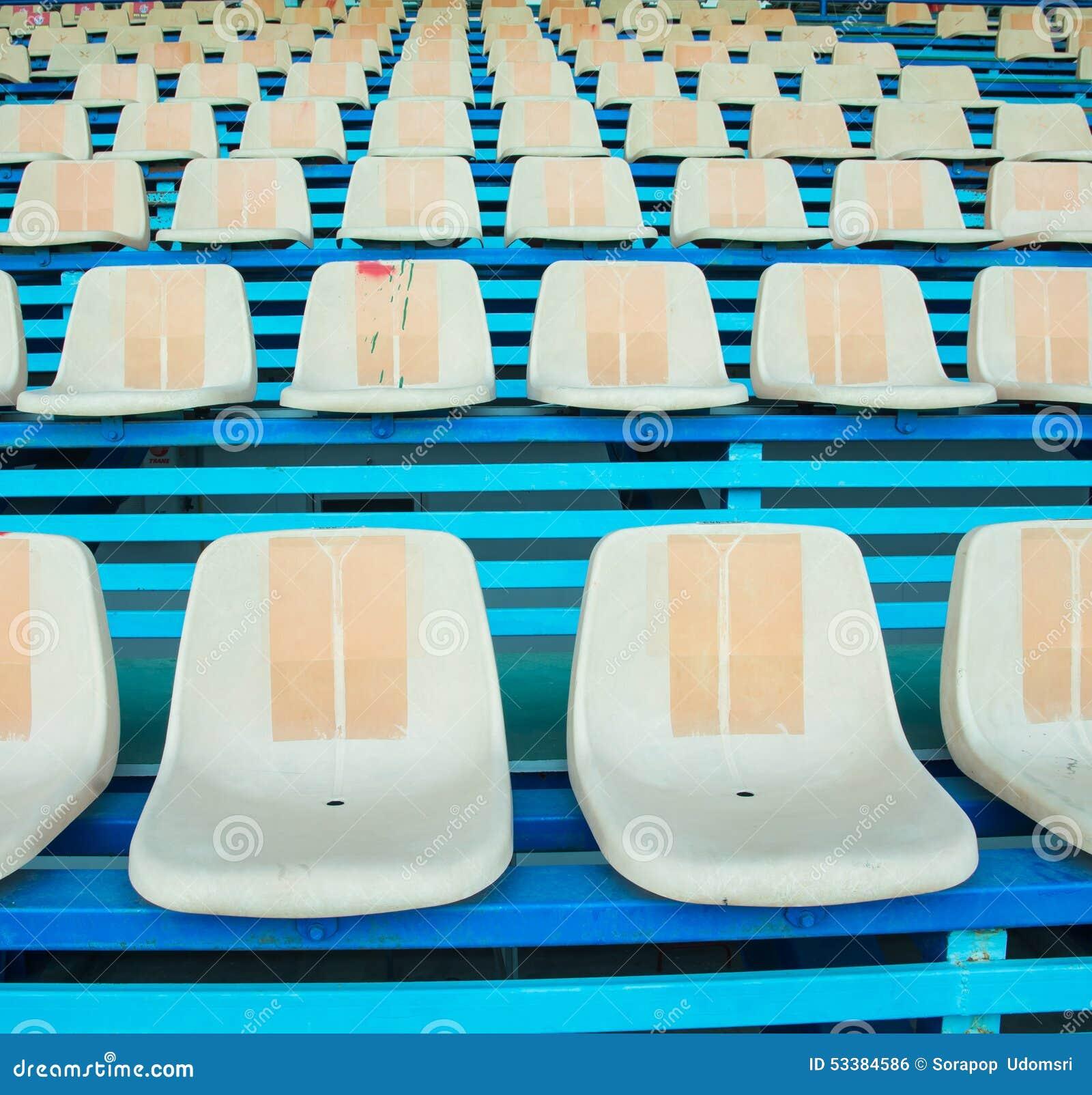 Sport Stadium Chair On Bleachers Photo Image 53384586 – Chair for Bleachers