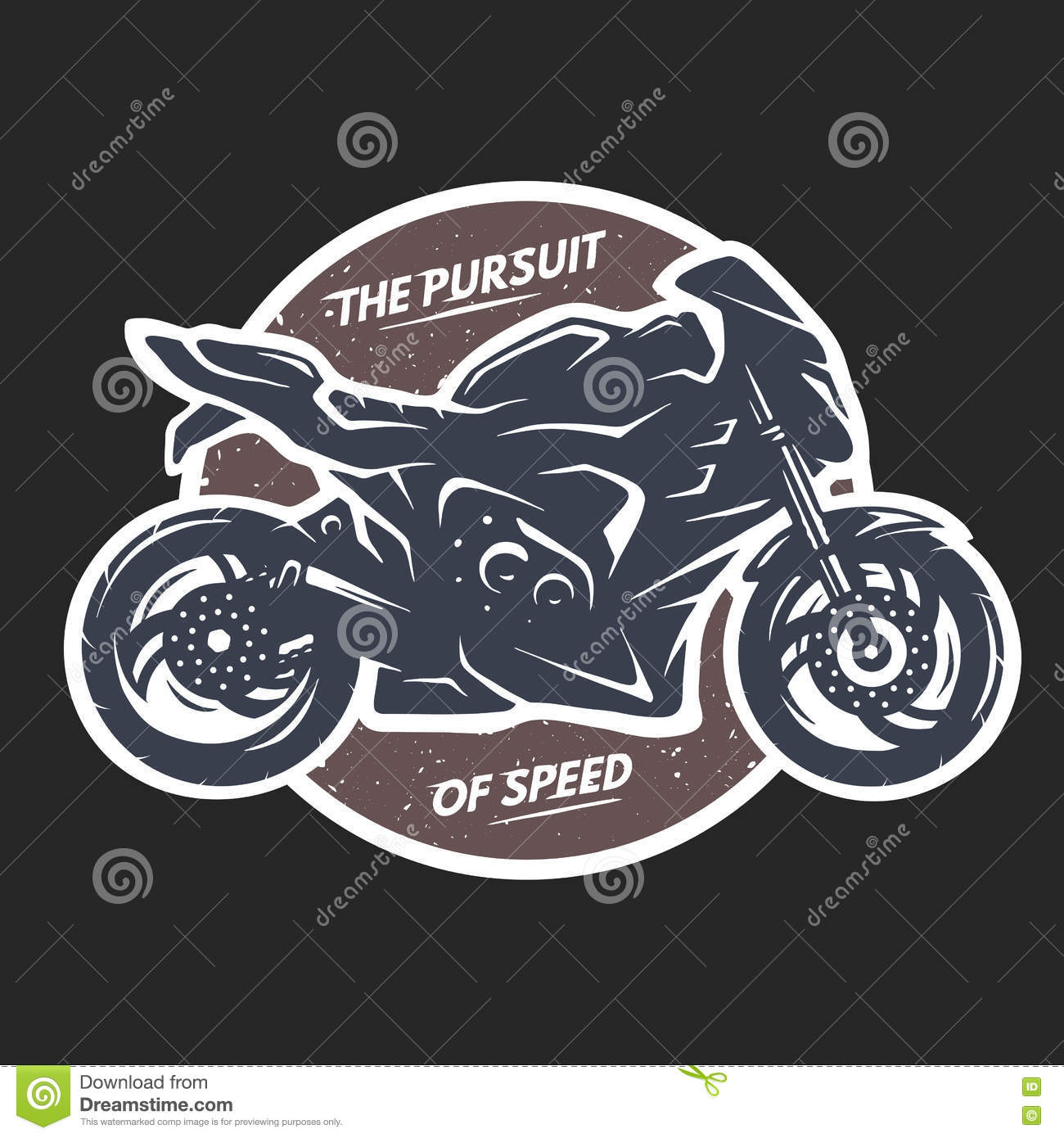 9c4f70d6a Sport superbike motorcycle Emblem t-shirt design. Vector illustration.  Designers Also Selected These Stock Illustrations. Motorcycle royalty free  ...