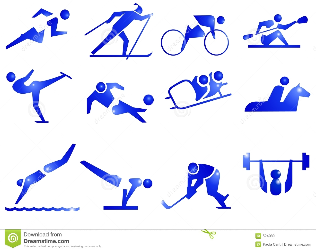 Sport Symbol Icons Royalty Free Stock Images - Image: 524089