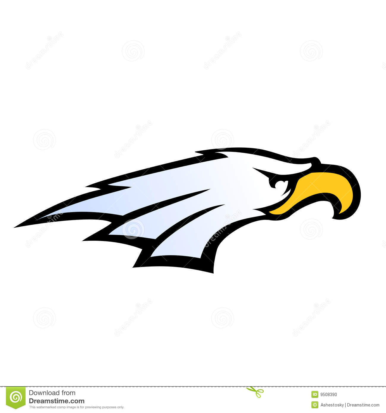 Sport team style eagle head  Eagle Head Vector