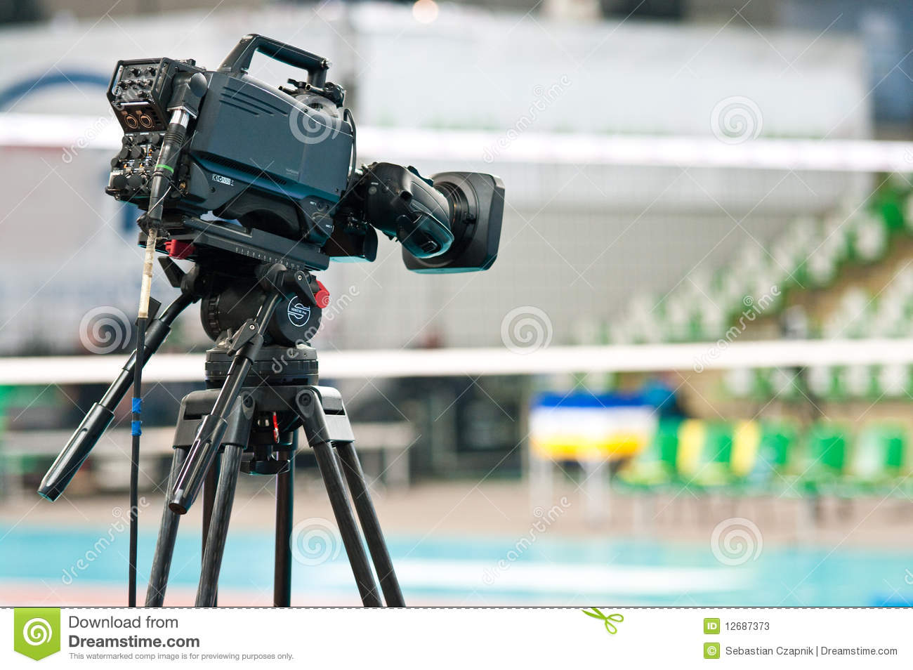 sport television camera stock image image of sport indoor 12687373