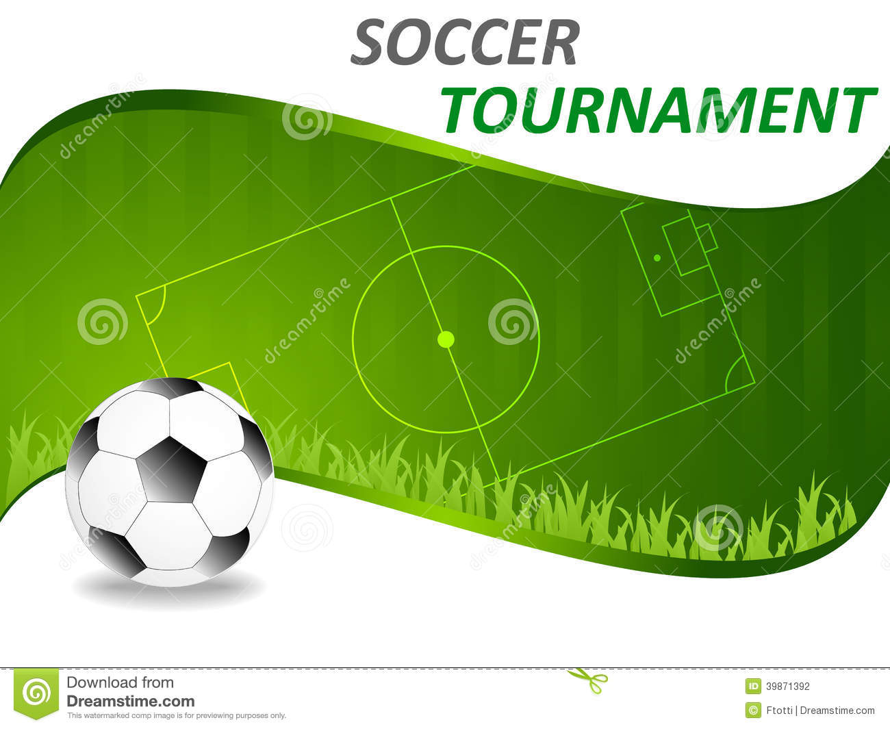 Sport Template With Soccer Ball Stock Vector Image