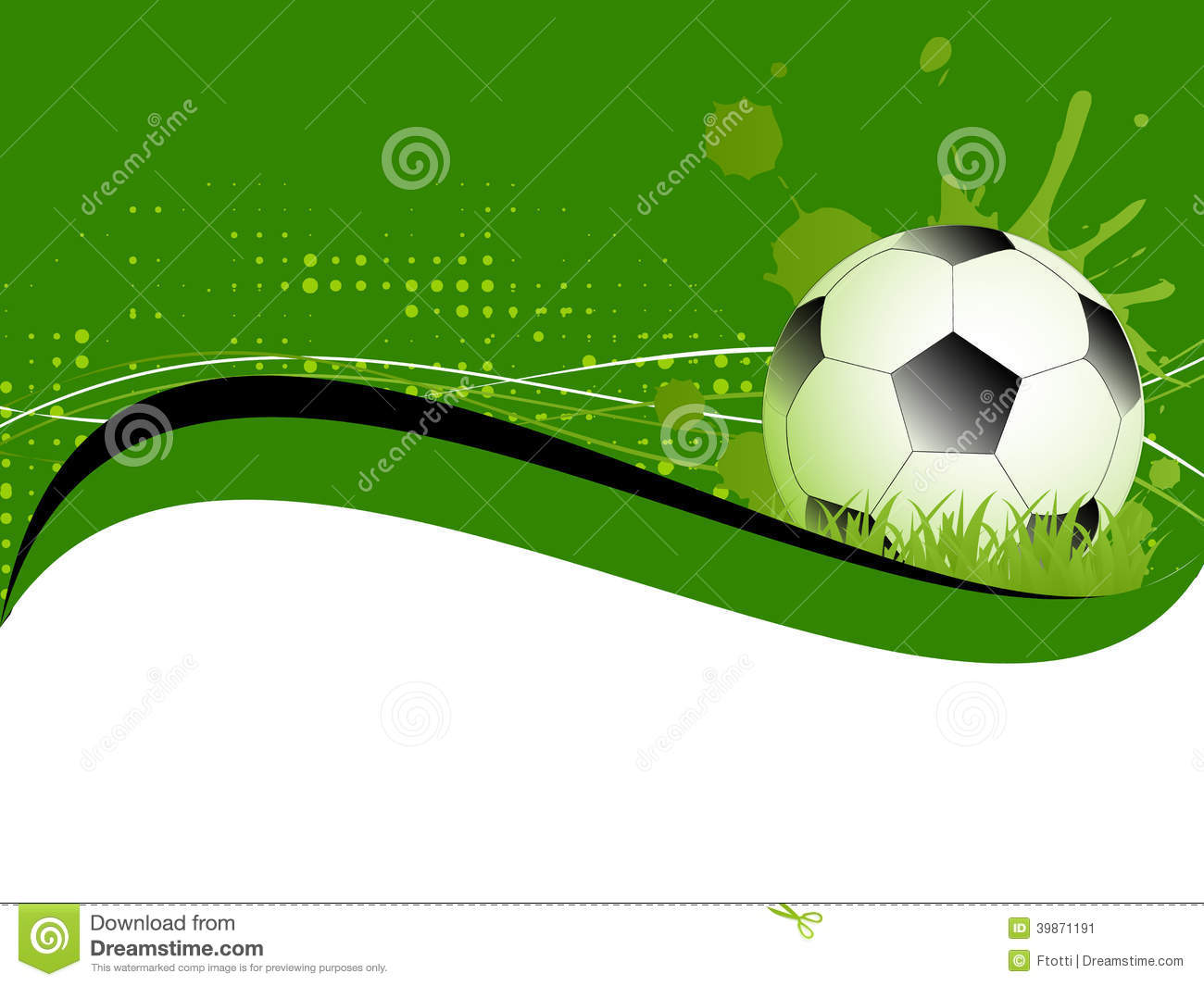 sport template with soccer football ball stock illustration