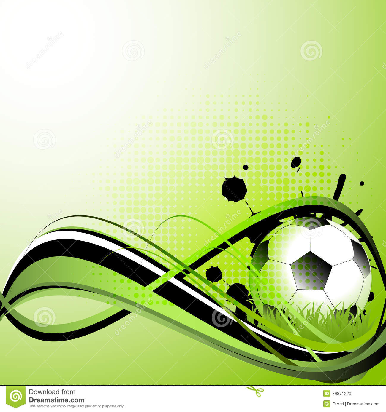 Sport Template With Soccer