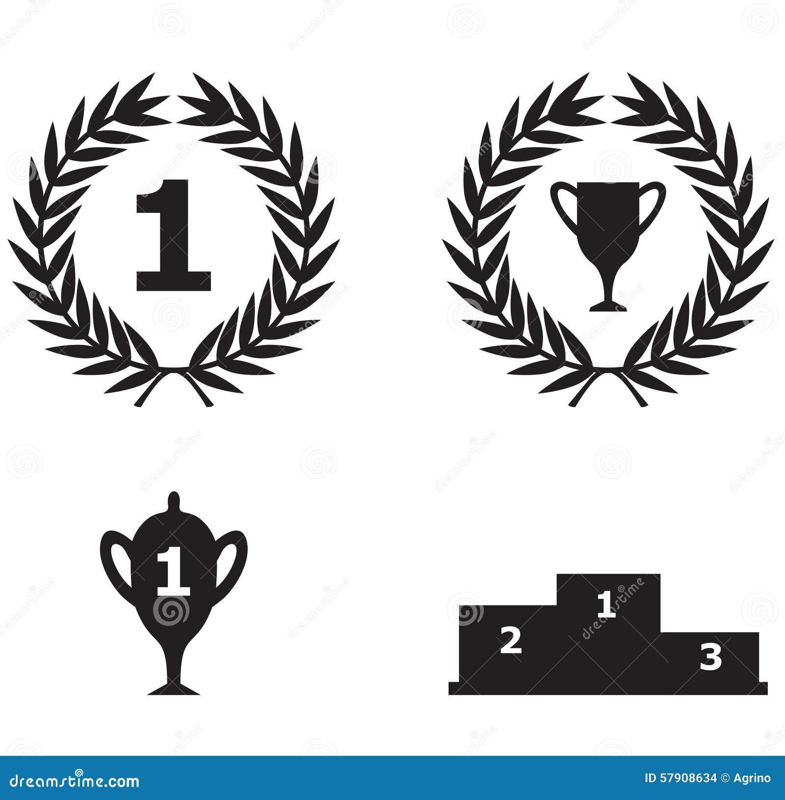 sport triumph icon stock vector