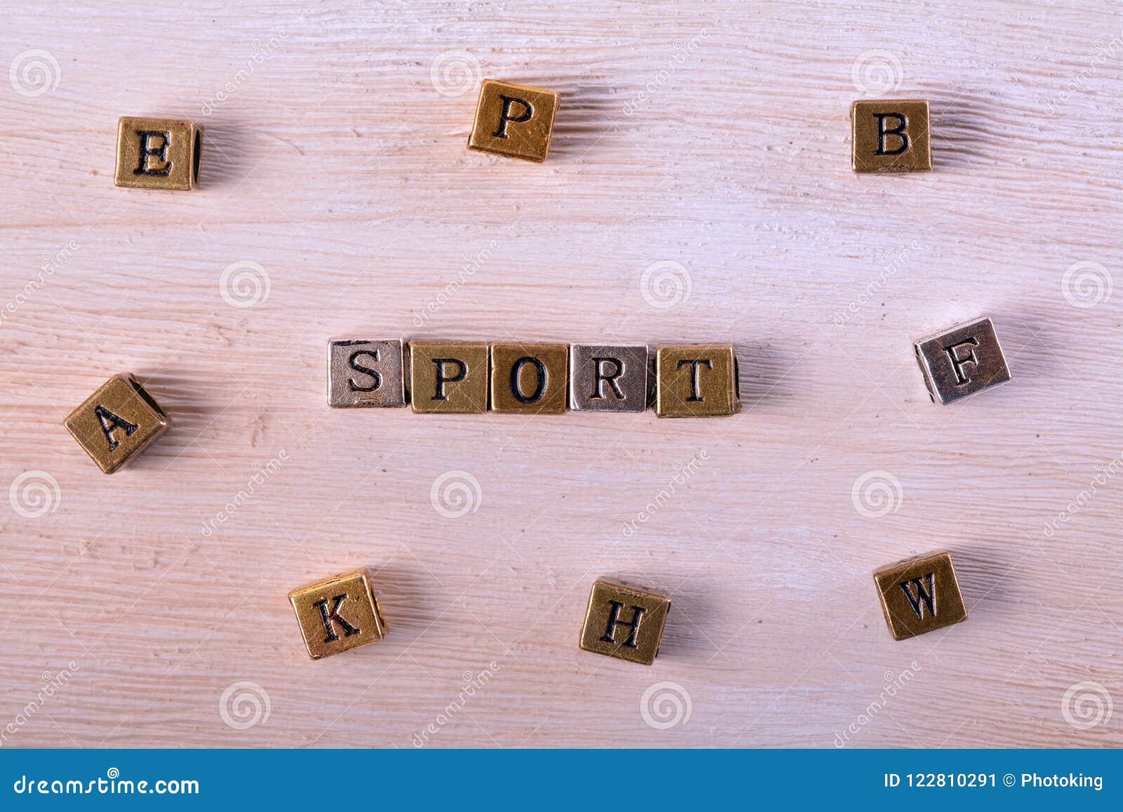Sport word metal block