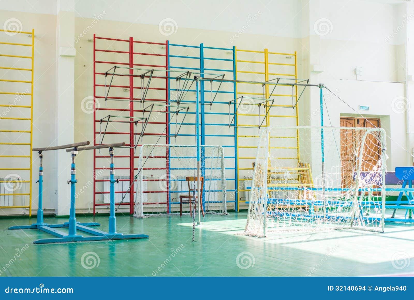 Sporta kompleks w rosjanin szkole