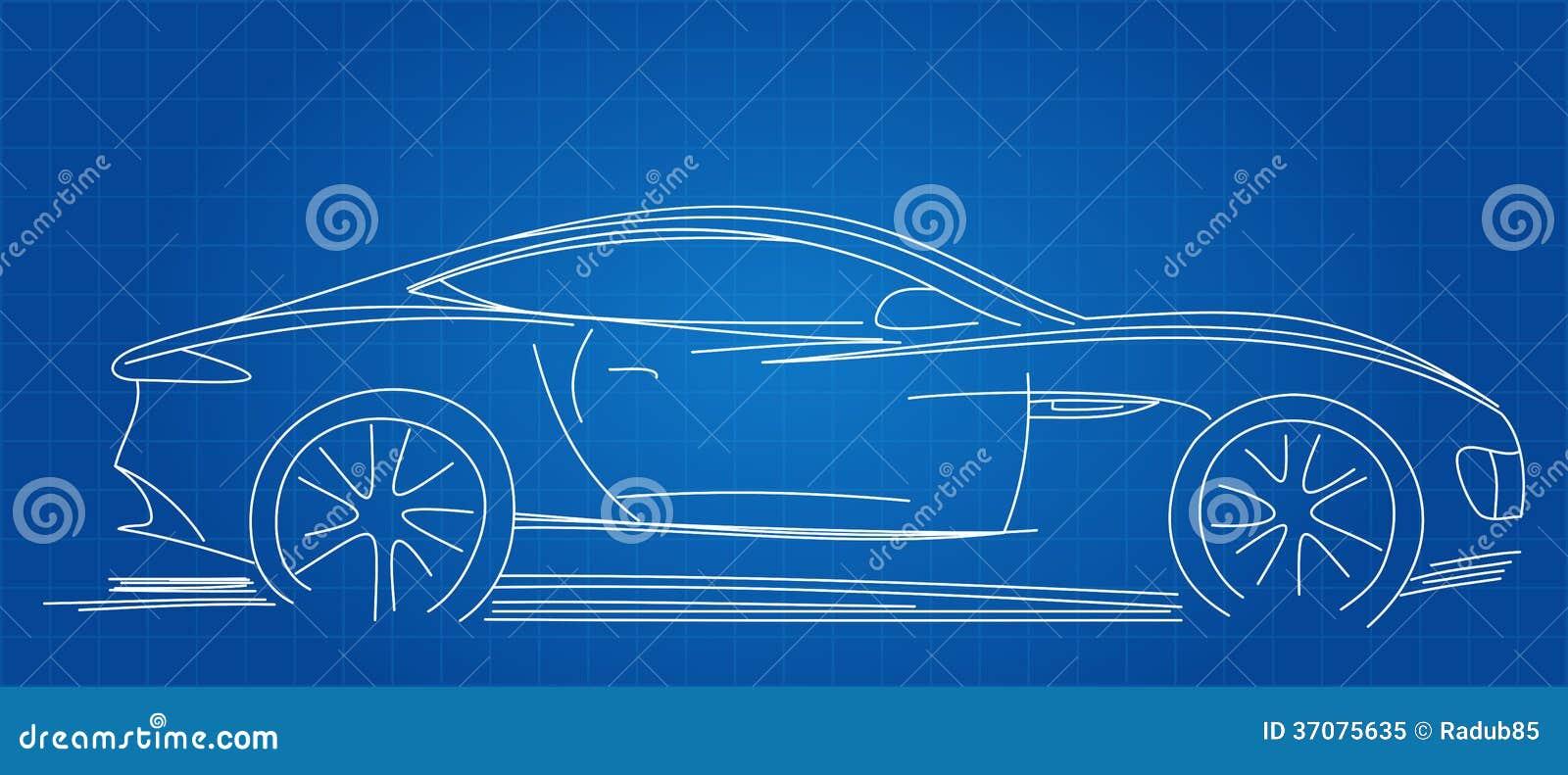 Download Sporta Samochodu Nakreślenie Ilustracja Wektor - Ilustracja złożonej z prosty, automobiled: 37075635