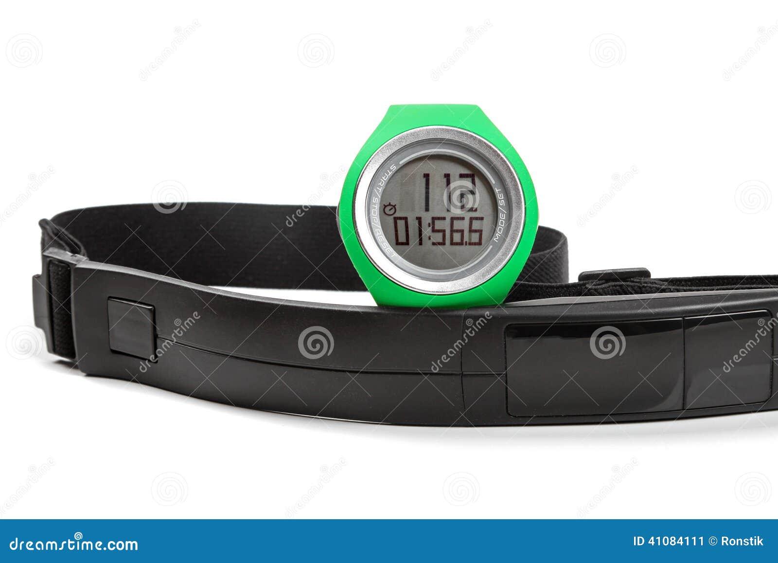 Sporta tętna monitor, zegarek i klatki piersiowej patka,