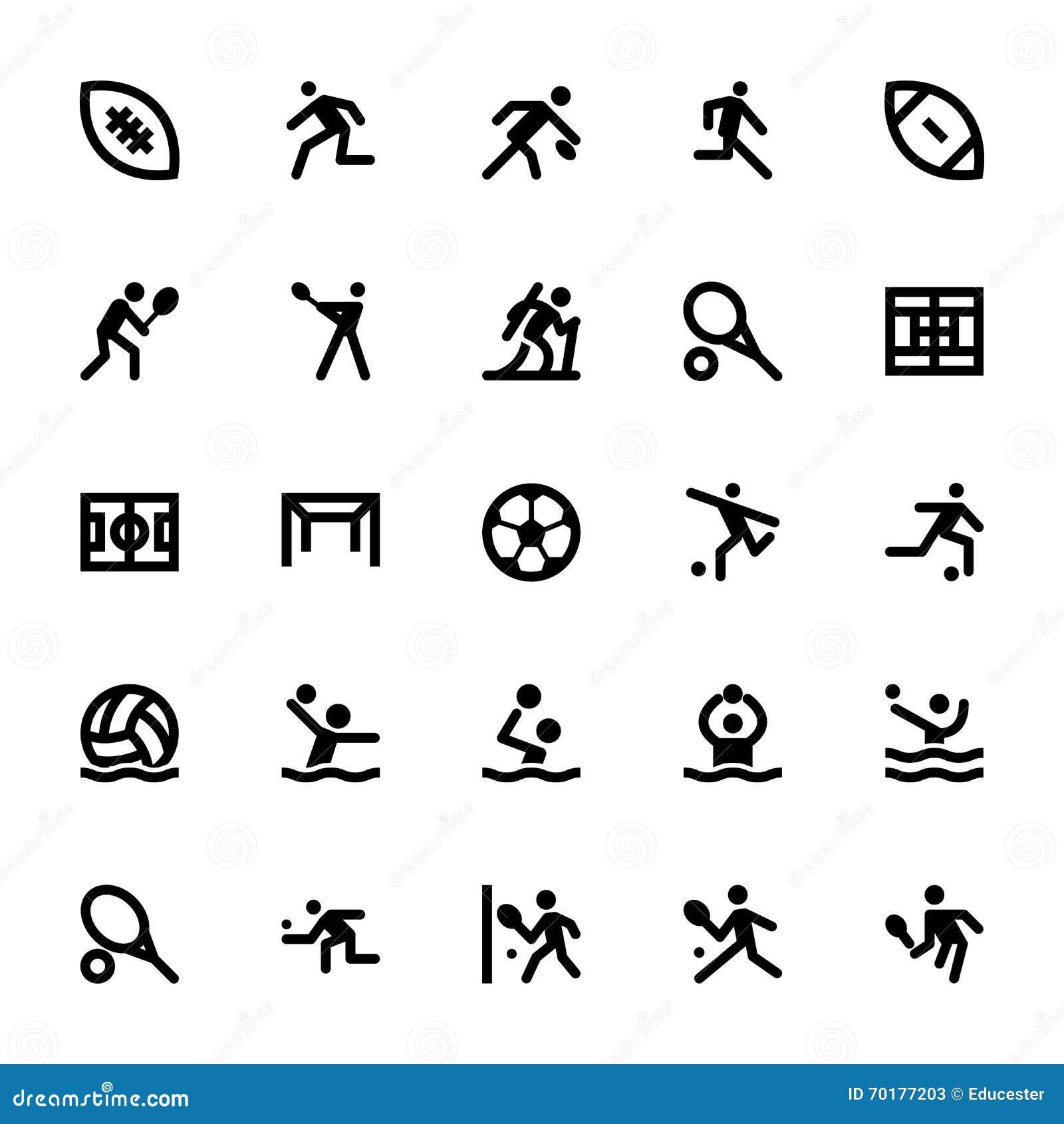 Sportar och lekvektorsymboler 14