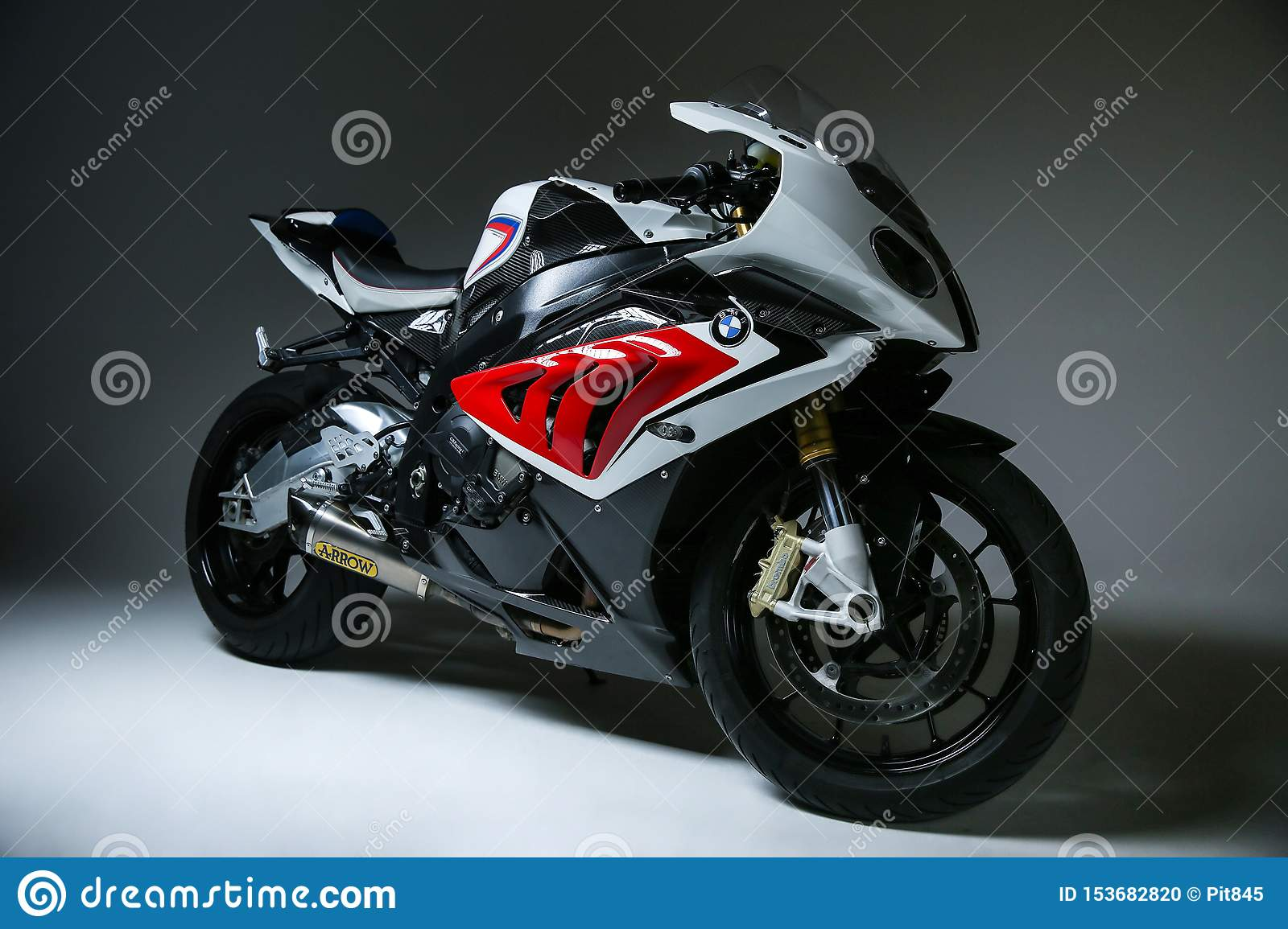 Sportbike Bmw S1000rr On Smooth Background Editorial Image Image Of Front Powerful 153682820
