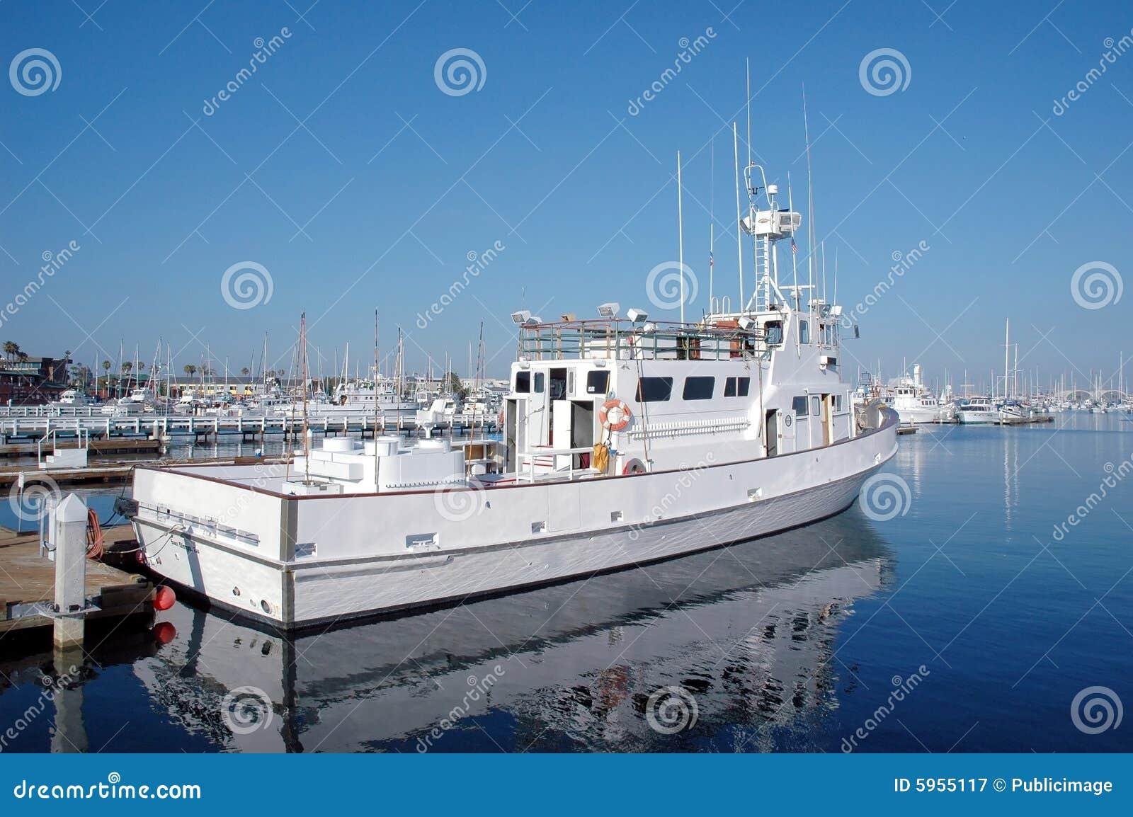 Sportfishing boat stock image image of fleet diego deep for Deep sea fishing san diego california