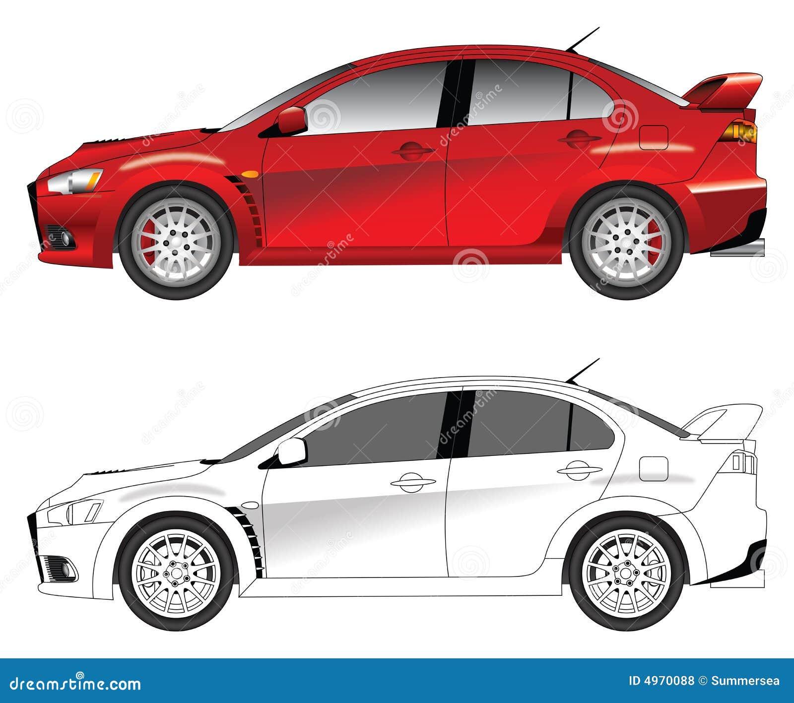 Sportieve auto vectorillustratie