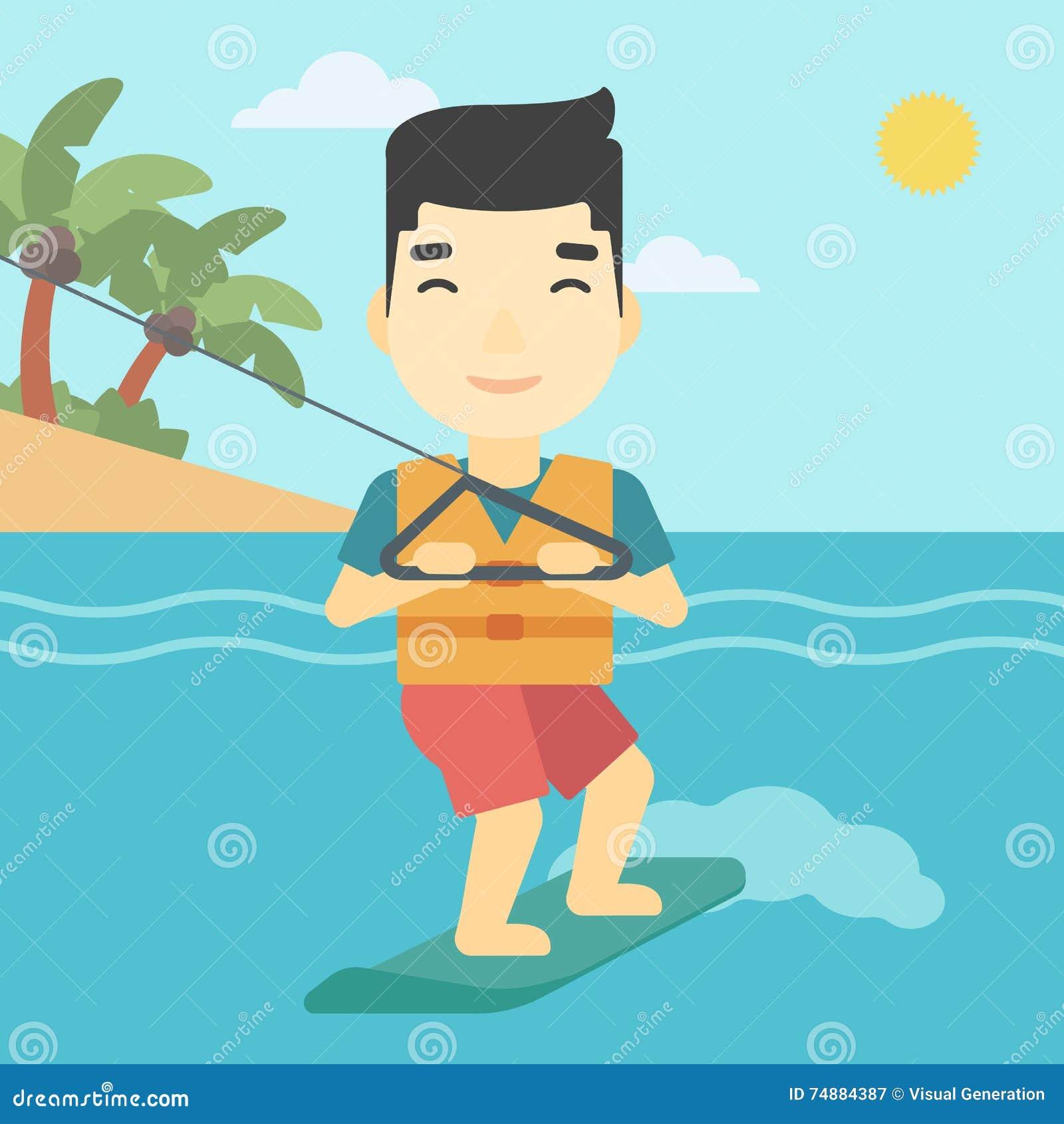 Sportif professionnel de wakeboard