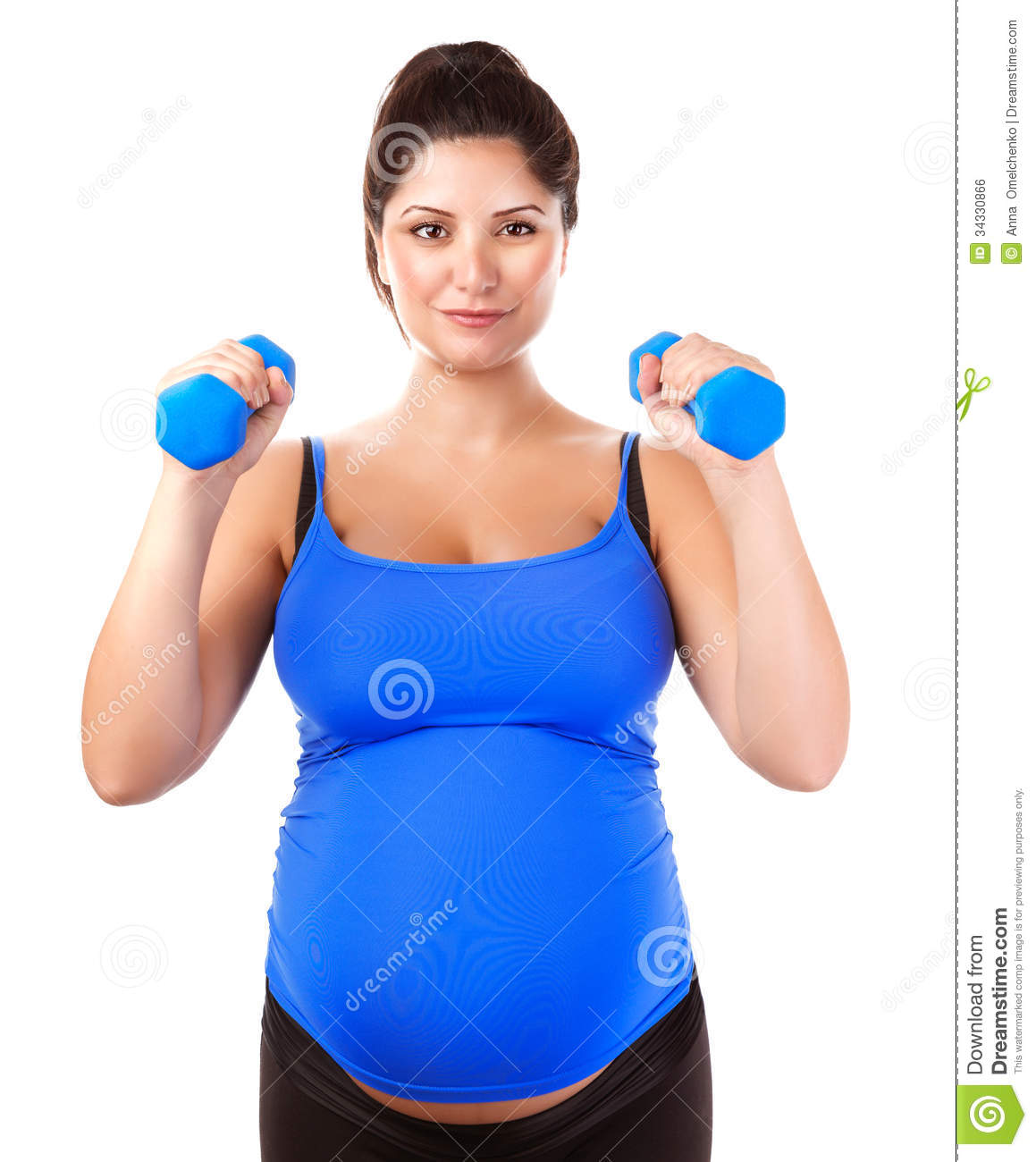 Sportive pregnant girl stock photo. Image of beauty, baby ...