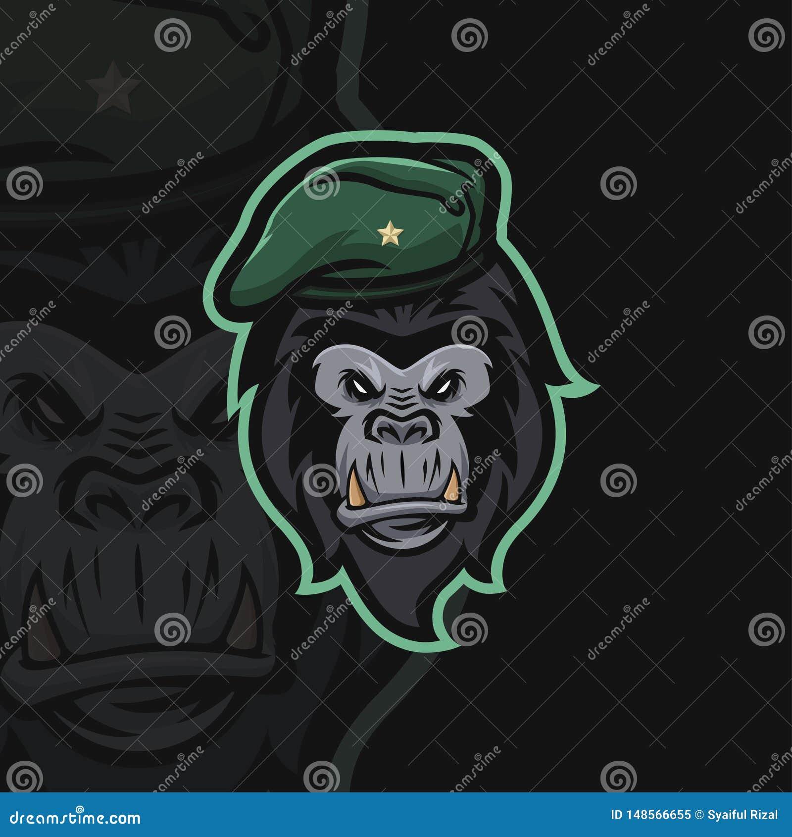 Sportlogo för gorilla e