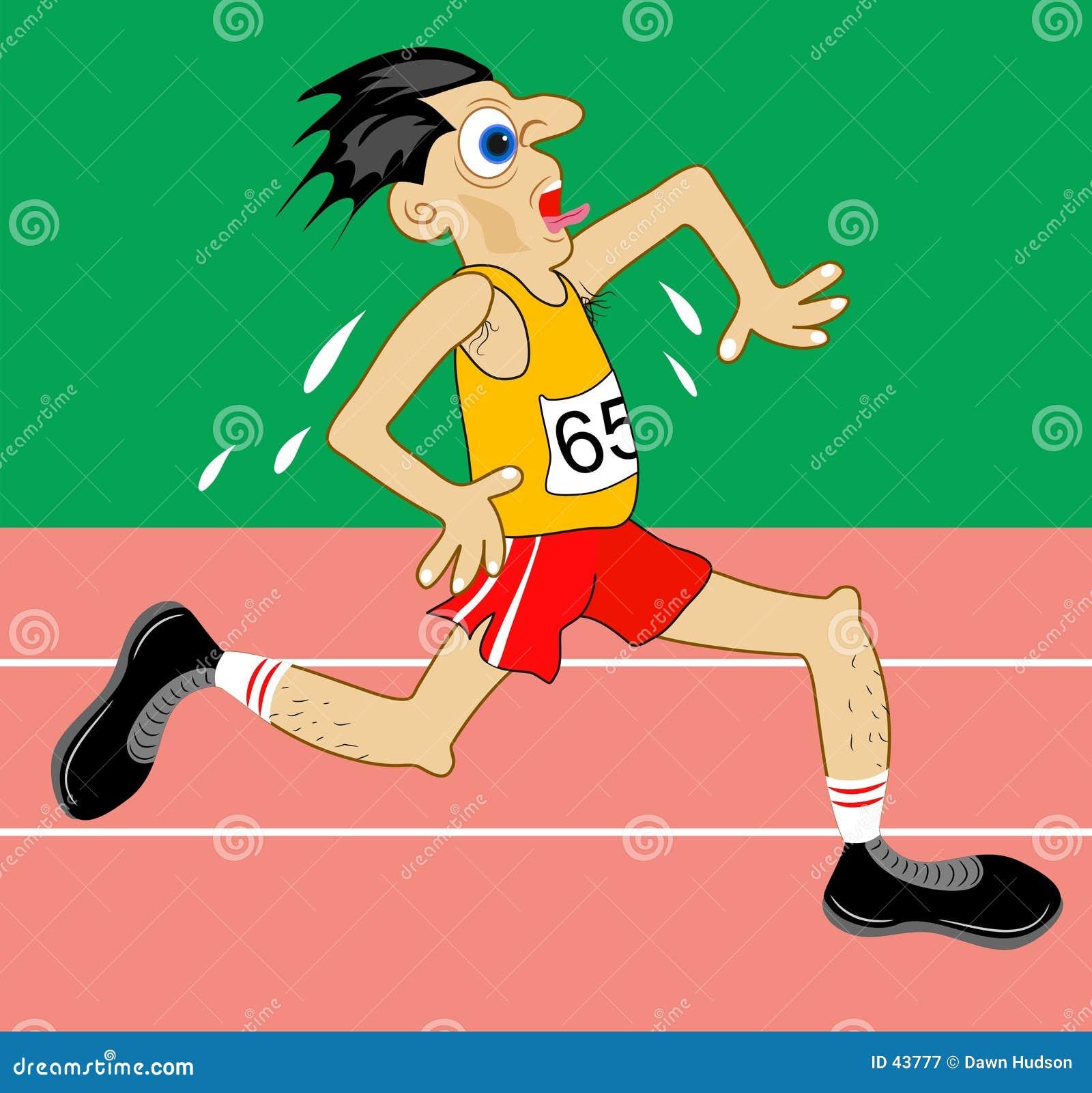 Download Sportowiec ilustracja wektor. Ilustracja złożonej z racetrack - 43777