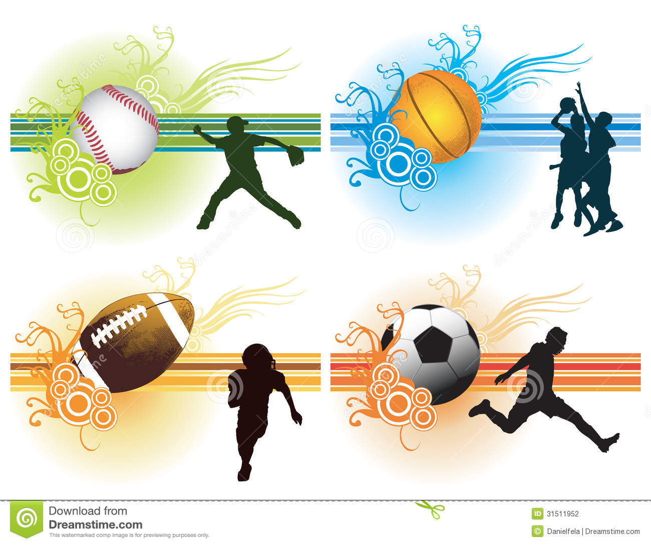 sports background stock vector illustration of team 31511957