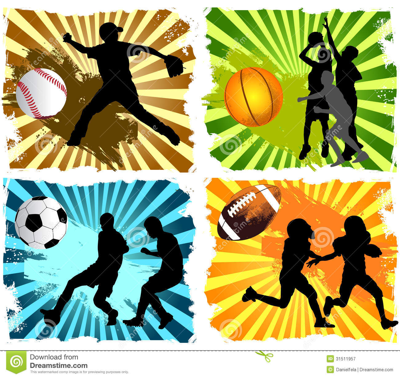 Sports: Sports Background Royalty Free Stock Photography