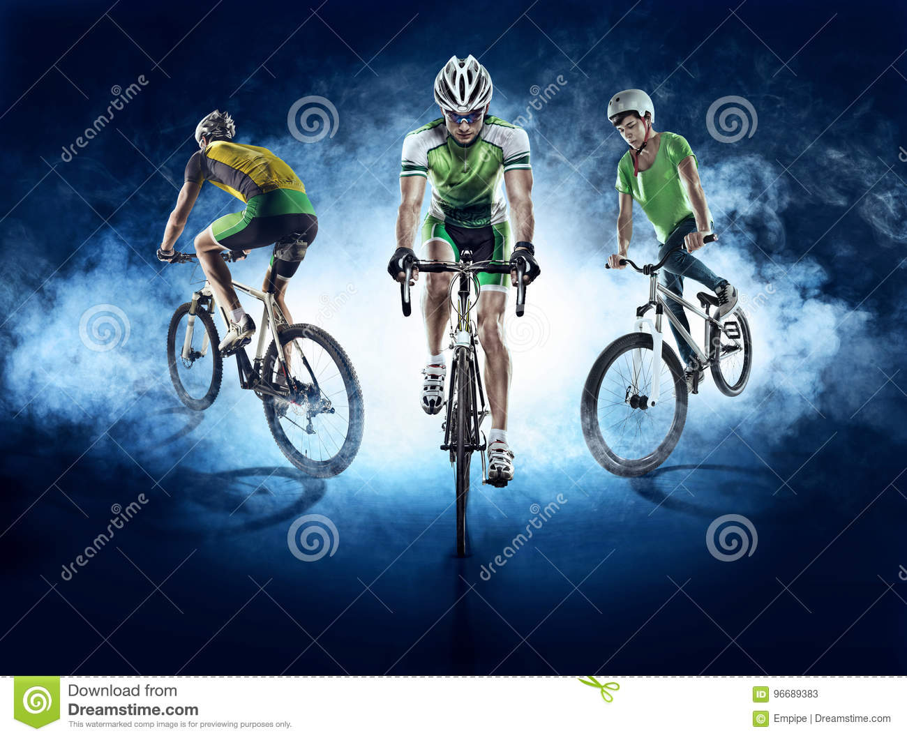 Sport backgrounds. Cyclist. Isolated.