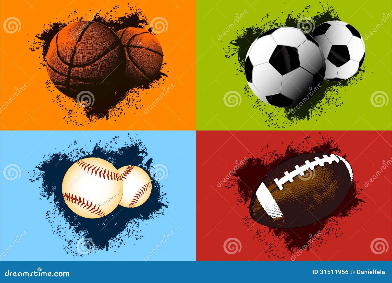 Sports Ball Background Stock Vector Illustration Of Baseball