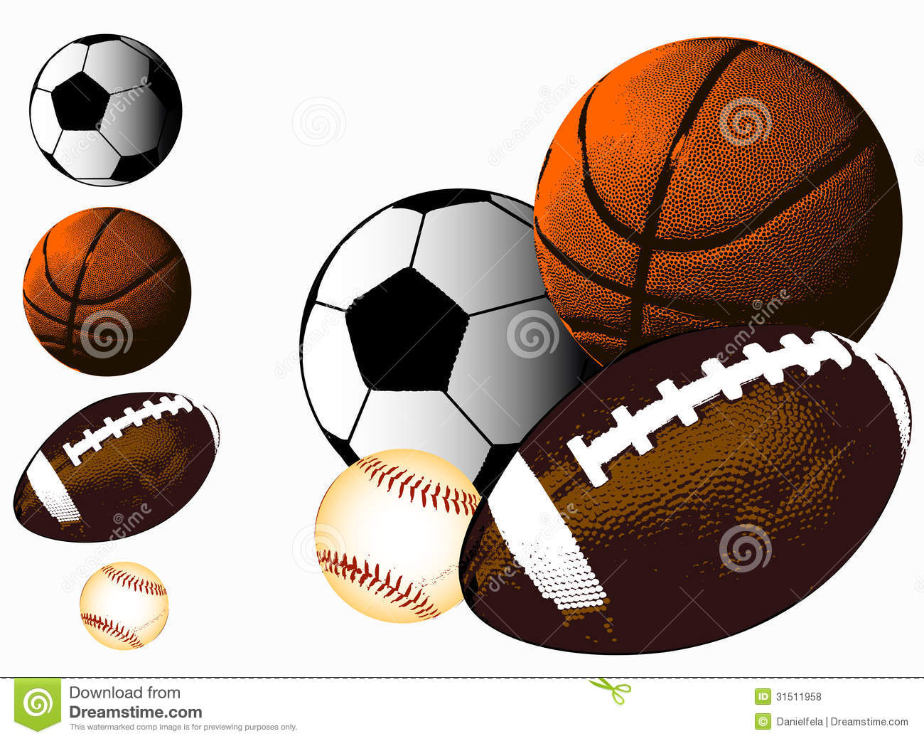Sports ball collage