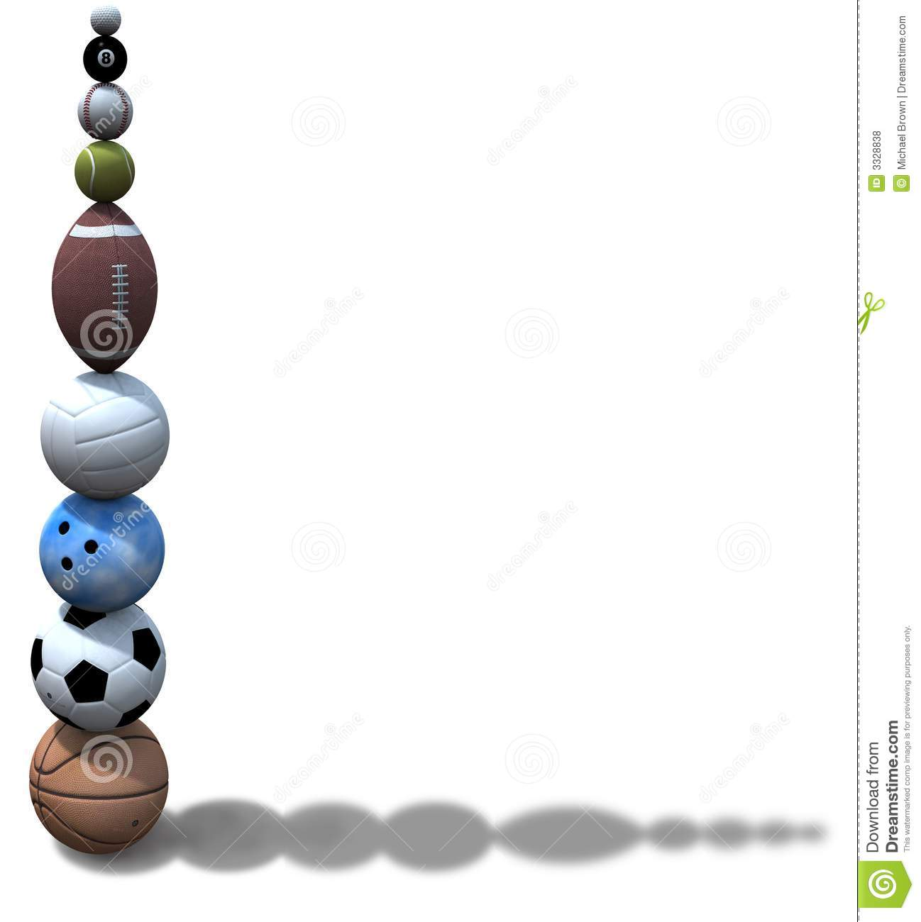 Sports Ball Stack Background Royalty Free Stock Photos