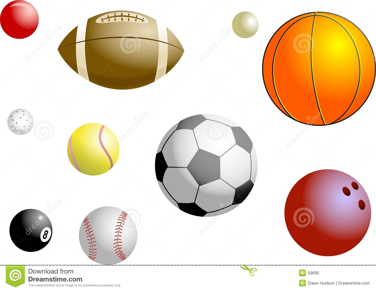 Sports Balls Royalty Free Stock Photo Image 59695