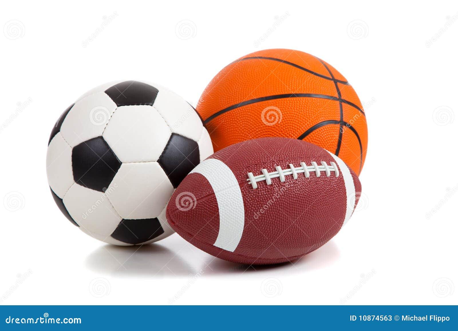 Vector Deportes Bolas Patrón De Fondo: Sports Balls On White Stock Image. Image Of Objects, Group