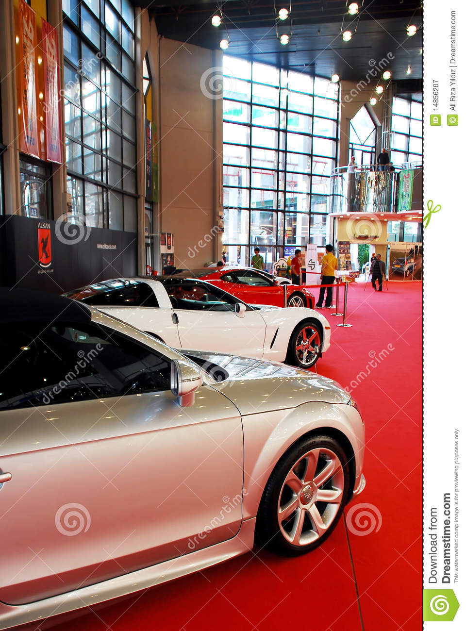 Sports car at the auto show