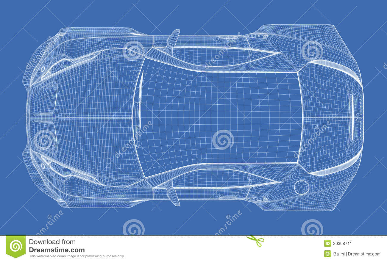 Sports car blueprint stock illustration illustration of project sports car blueprint project blue royalty free stock photo download sports car blueprint stock illustration malvernweather Images