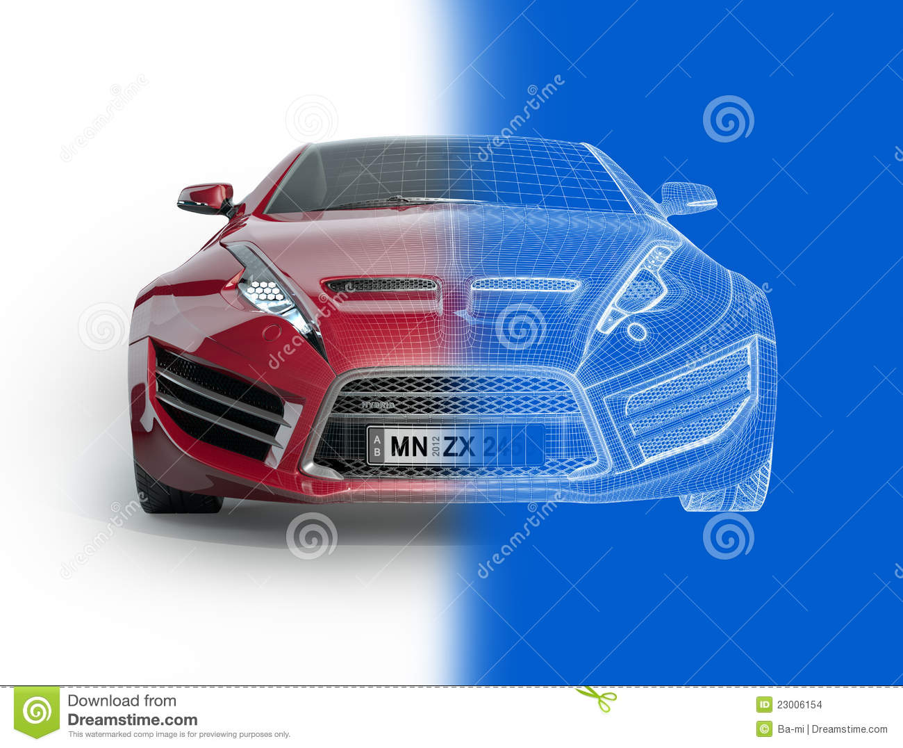 Sports car blueprint stock illustration illustration of electricity sports car blueprint malvernweather Images