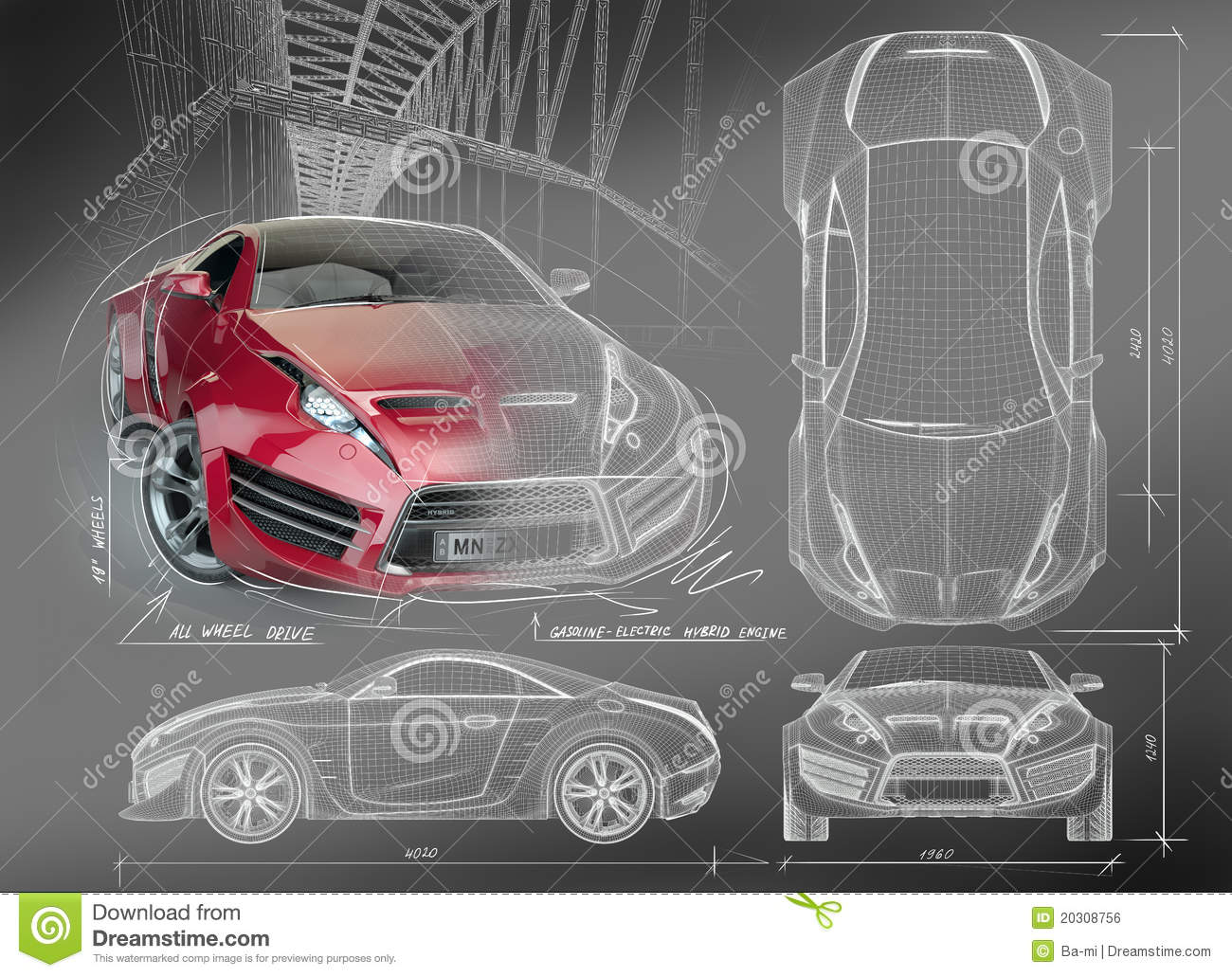Sports car blueprints royalty free stock image image Blueprint designer free