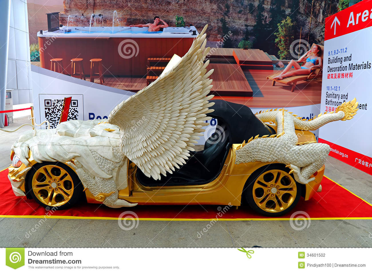 Sports Car With Bone Carving Decoration Editorial Photography Image 34601502