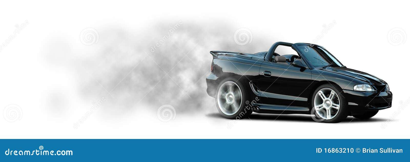 Sports Car Burnout Mustang Stock Photo Image 16863210