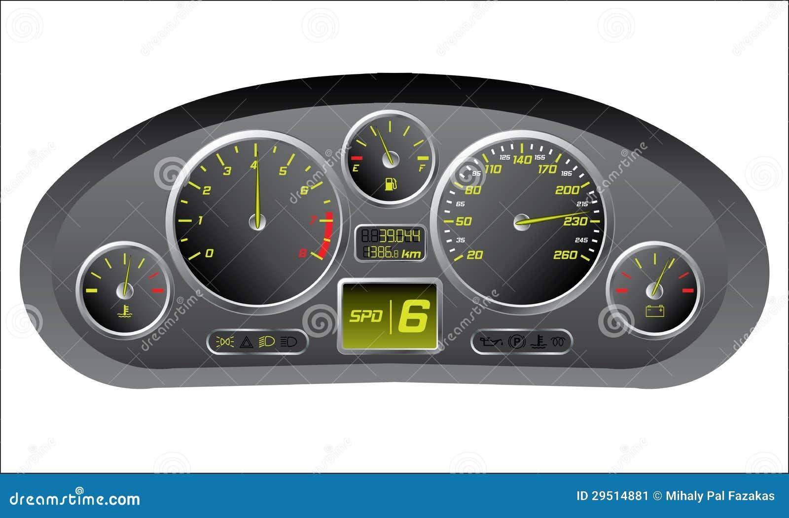 sports car dashboard stock image image 29514881. Black Bedroom Furniture Sets. Home Design Ideas